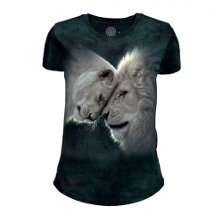 Женская Футболка Tri-Blend White Lions Love