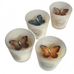 Свеча Бабочка в стакане