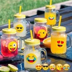 Набор Стаканов-Банок Emoji (6шт)