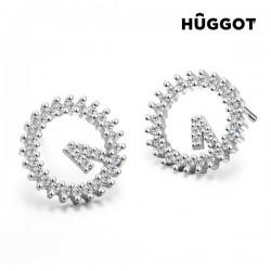 Kõrvarõngad Hûggot Winner (925 hõbe ja tsirkoonium)