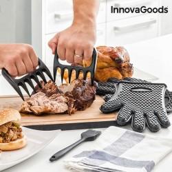 Когти для разделывания мяса с Силиконовыми Перчатками и Кисточкой
