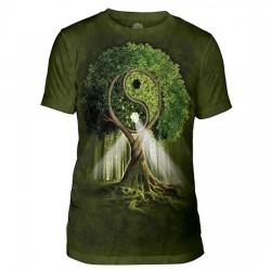 Tri-Blend T-särk Yin Yang Tree