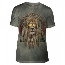 Tri-Blend T-särk DJ Lion Retro