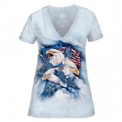 Tri-Blend Naiste T-särk V-kaelusega Allegiance