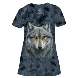 V-образная Женская Футболка Tri-Blend Warrior Wolf