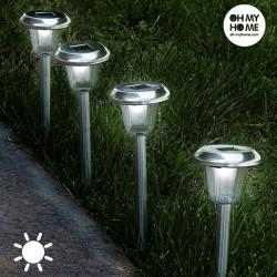 Päikesepatareidega aialambid (4 tk)
