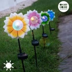 Садовая Лампа на Солнечной Батарее Цветочек