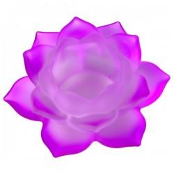 Стеклянный Подсвечник Фиолетовый Лотос