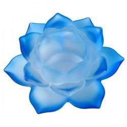 Klaasist teeküünla alus Sinine Lootos