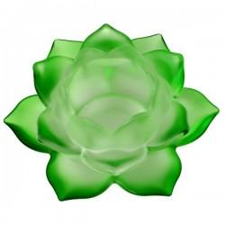 Стеклянный Подсвечник Зелёный Лотос