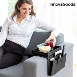 Поднос для дивана с органайзером для пультов