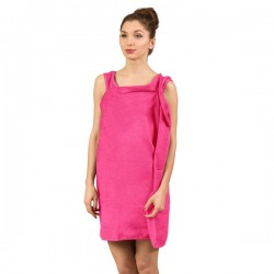 Халат-Полотенце, ярко-розовый