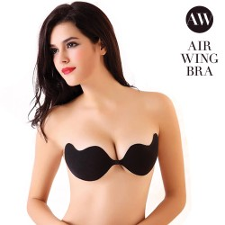 rinnahoidja Air Wing Bra, must