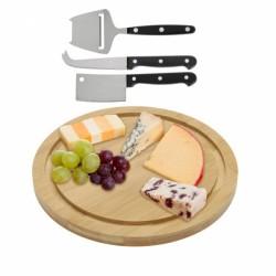 4-osaline komplekt (lõikelaud + 4 juustunuga)