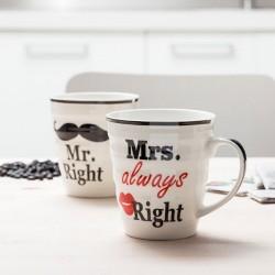 Mr Right & Mrs always Right kruusid (2tk)