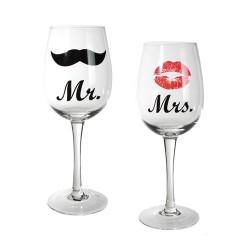 Бокалы для вина Mr & Mrs