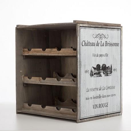 Vintage Stiilis Puidust Pudeliriiul Château de la Brissonne