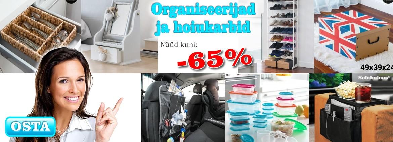Organiseerijad kuni -65%