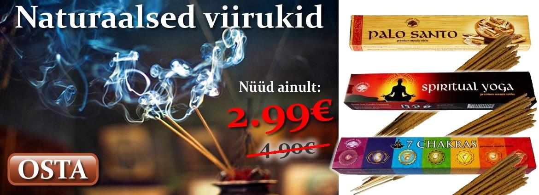 Naturaalsed Viirukid vaid 2,99€