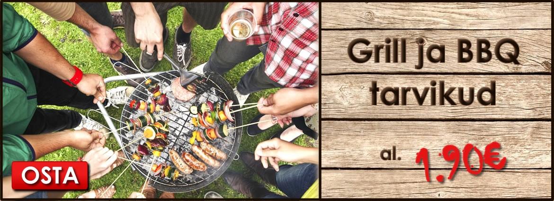 Grillihooaeg on alanud! Grill ja BBQ al. 1,90€
