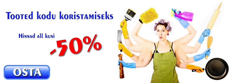 Tooted kodu koristamiseks kuni -50%