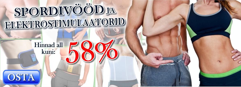 SPORDIVÖÖD JA ELEKTROSTIMULAATORID kuni -58%